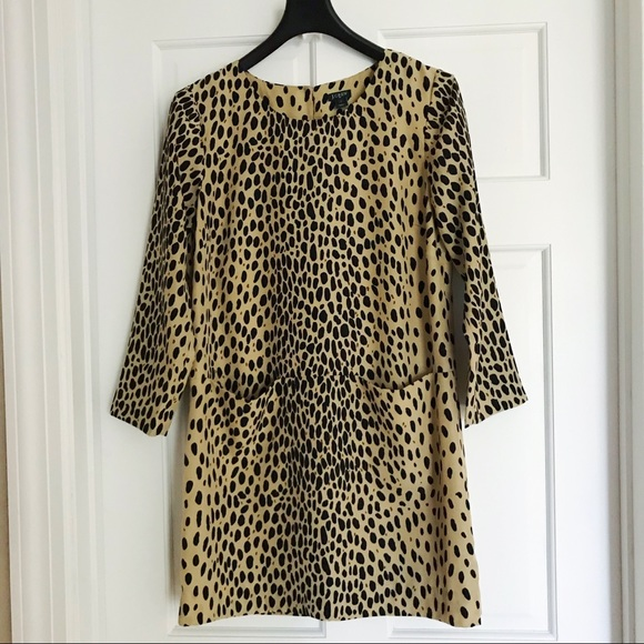 J. Crew Factory Dresses & Skirts - J.Crew Animal Print Shift Style Dress